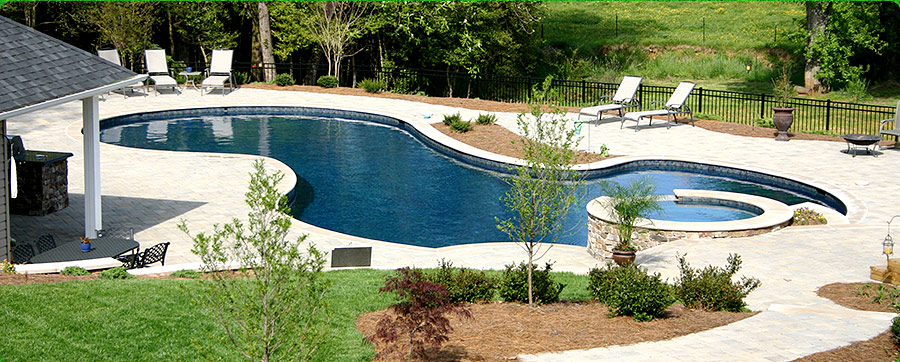 King of the Greens Stone Veneer Pools Landscaping